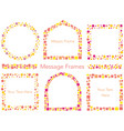 a set of mosaic and dot frame vector image