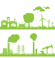 abstract ecology and industry background vector image vector image