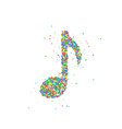abstract musical note vector image vector image