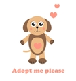 Adopt a dog Dog adoption concept Happy dog in vector image vector image