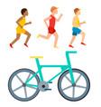 athletic run man people jogging summer vector image vector image