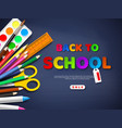 back to school sale poster vector image vector image