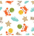 bacute pattern with crabs vector image vector image