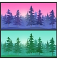 Beautiful Landscape spruce trees vector image
