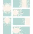 Blue decorative vintage cards vector image vector image