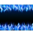 Blue Fire Tileable Borders vector image vector image