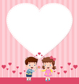 Boy and girl card vector image