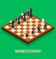 business strategy chess concept vector image vector image