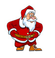 cartoon Santa Claus looking curiously vector image vector image
