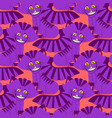 cheshire cat smile pattern texture fantastic pet vector image