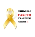 Childhood Cancer Awareness gold ribbon banner vector image vector image