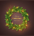 christmas holiday wreath vector image vector image