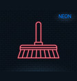cleaning mop line icon sweep a floor vector image