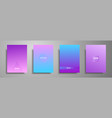 colorful placard templates set with graphic vector image vector image