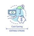 cost-saving advantage concept icon vector image vector image