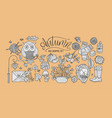 cozy fall hand drawn vector image vector image