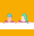 creative advertising banner concept vector image