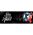 Day AIDS red ribbon grunge banner vector image vector image