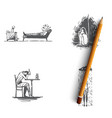depression - professional help childhood vector image vector image
