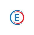 e company logo template design vector image vector image