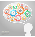 Education thinking conceptual vector image vector image