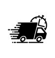 fast shipping black icon vector image