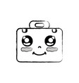 figure kawaii cute happy briefcase and medical kit vector image vector image
