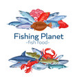 fish banners vector image vector image