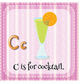 Flashcard letter c is for cocktail vector image vector image