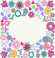 floral Summer Invitation Design vector image vector image