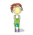 gardener girl vector image