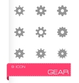 gear icon set vector image vector image