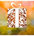 Gift from Autumn leaves background EPS 8 vector image vector image