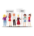 girl power and feminism concept flat vector image