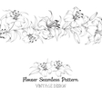 Group of lily flowers vector image