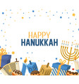 hanukkah celebration with presents and candles vector image vector image