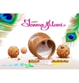 Holiday Symbols Krishna Janmashtami Broken Pot of vector image vector image