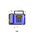 icon of fax for office work concept vector image