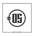 initial letter os logo template design vector image
