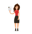 interview a businesswomen vector image