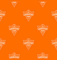 laboratory pattern orange vector image vector image