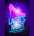 ladies night dancing with high heeled shoes vector image vector image