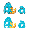 letter A anchor vector image vector image