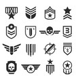 military and army design element icon set vector image vector image