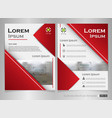 modern brochure of gradient red template vector image vector image
