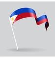 Philippines wavy flag vector image