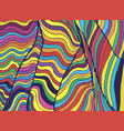 psychedelic colorful waves fantastic art with vector image vector image