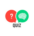 question mark and brain like quiz vector image vector image