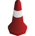red traffic safety cone vector image vector image