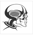 Robot skull vector image